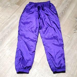 Vintage Reebok purple pants lining zipper size M